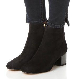 Sam Edelman Edith Black Suede Booties Size 8